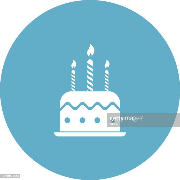 birthday cake with candles - birthday cake stock illustrations, clip art, cartoons, & icons