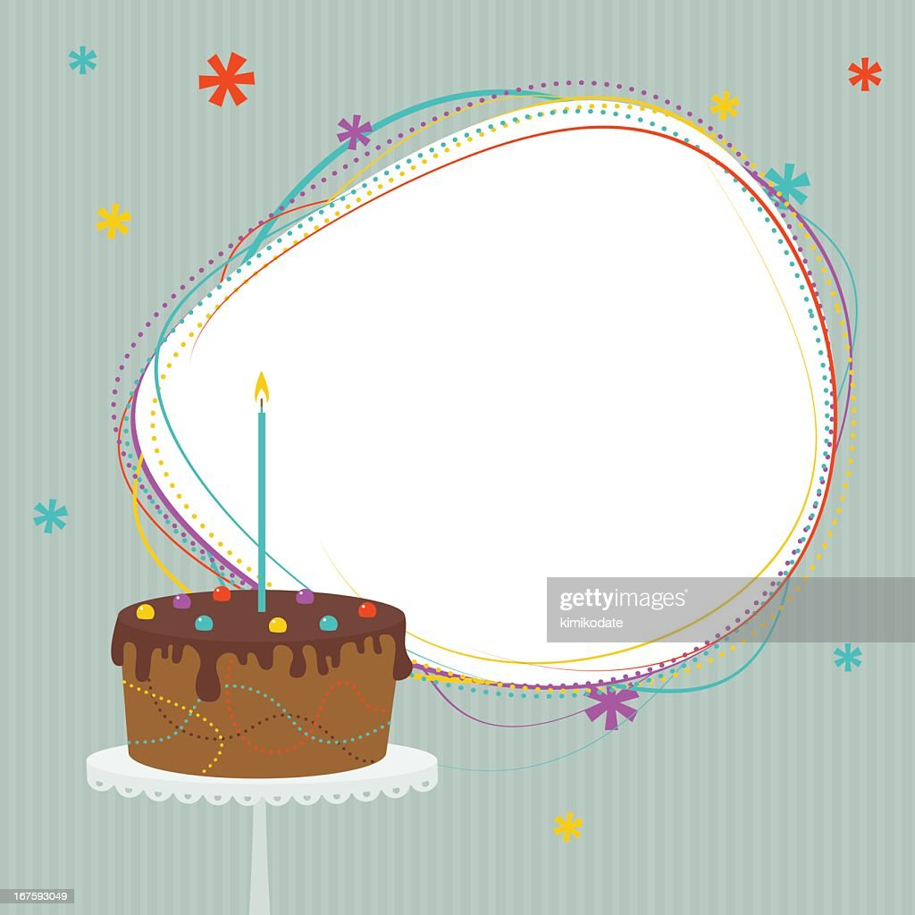 Birthday Cake With Frame stock illustration - Getty Images