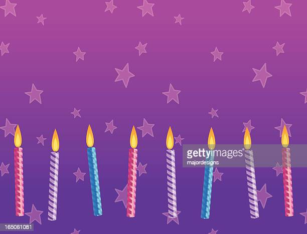 birthday candles - 8 9 years stock illustrations, clip art, cartoons, & icons