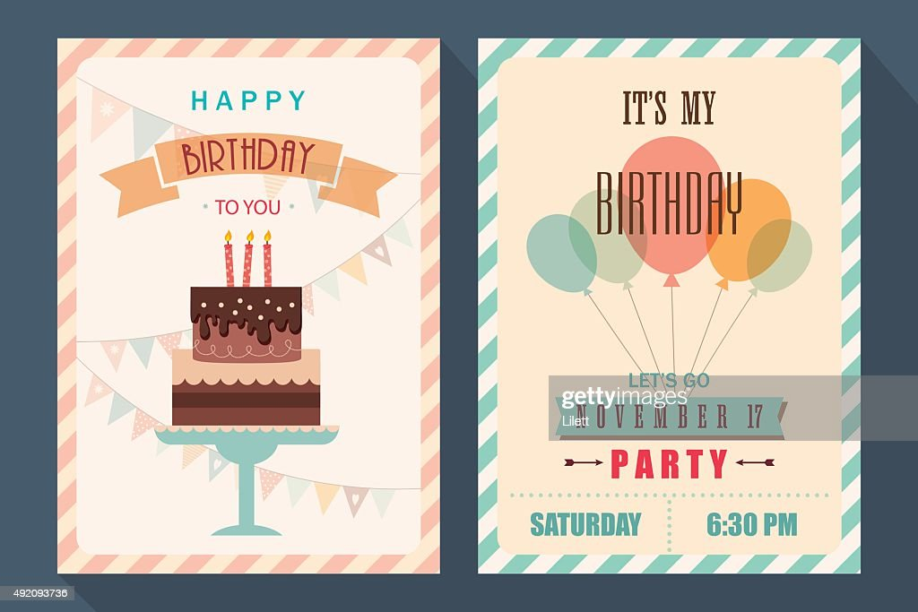 Birthday card and invitation template