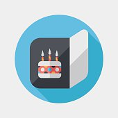 birthday card flat icon with long shadow,eps10