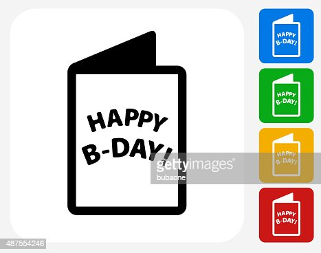 Birthday Card Icon Flat Graphic Design Vector Art Getty Images