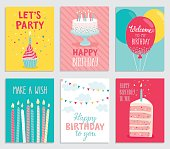 Birthday card set.
