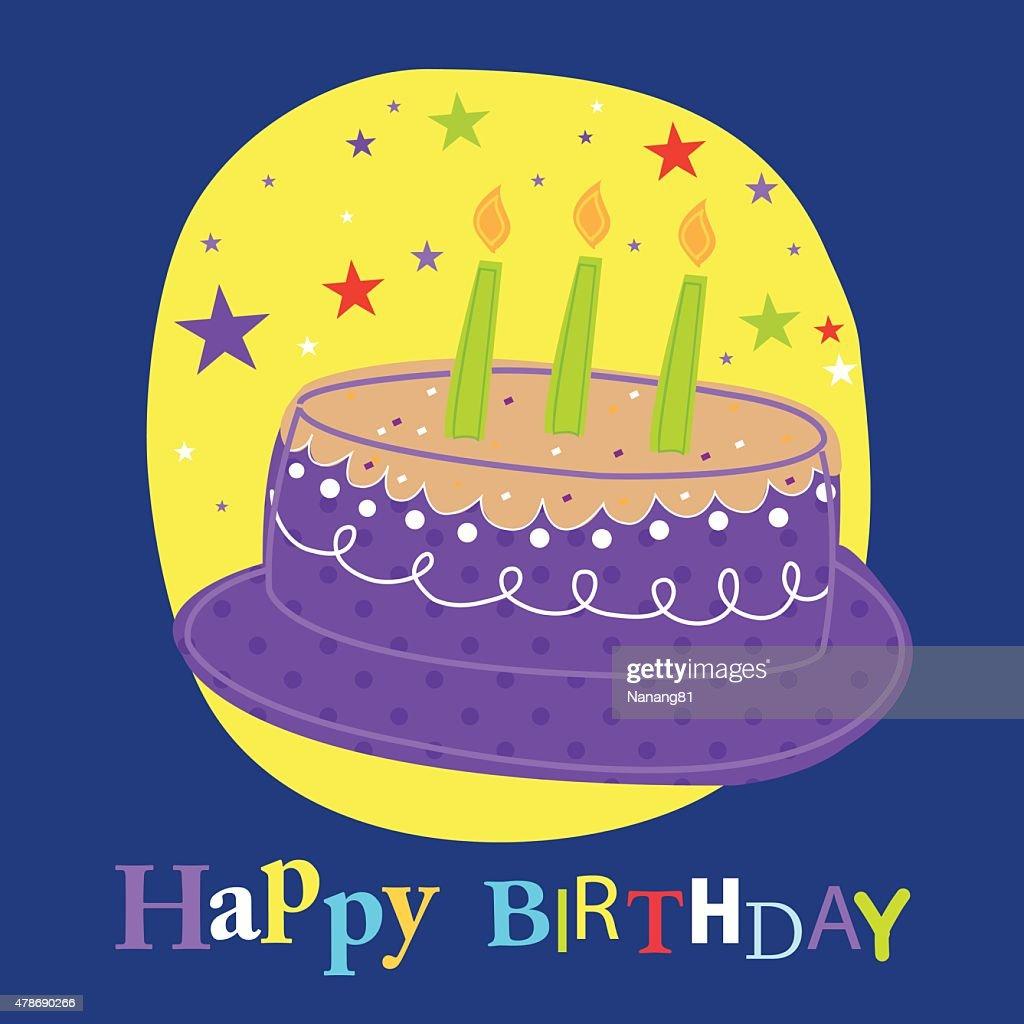 Birthday card with cake design