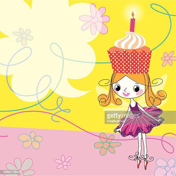 illustrations, cliparts, dessins animés et icônes de anniversaire de fées - anniversaire enfant