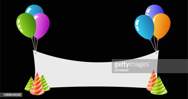 birthday greeting card - happy birthday banner stock illustrations