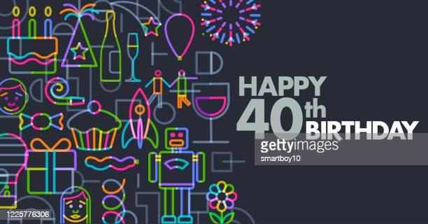 誕生日の挨拶 - 30歳の誕生日点のイラスト素材/クリップアート素材/マンガ素材/アイコン素材