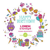 Birthday Invitation Card - with place for your text