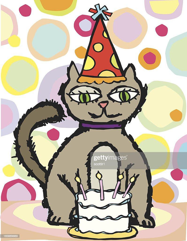 Birthday Kitty : stock illustration