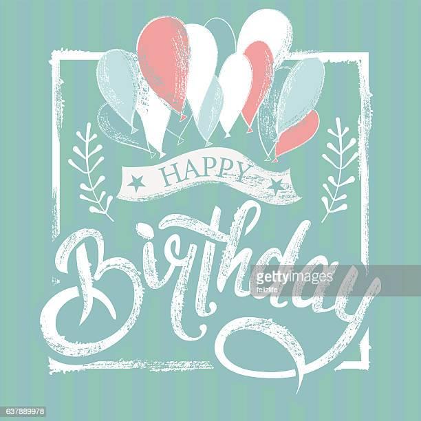 ilustraciones, imágenes clip art, dibujos animados e iconos de stock de birthday lettering symbol - frase corta