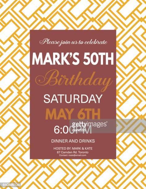invitation birthday cardsのイラスト素材と絵 getty images