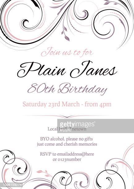 誕生日パーティーに招待します。 - 数字の80点のイラスト素材/クリップアート素材/マンガ素材/アイコン素材