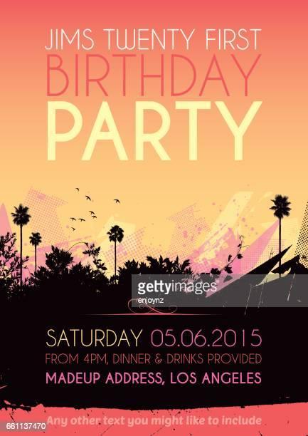 Plakat Einladung Geburtstag party