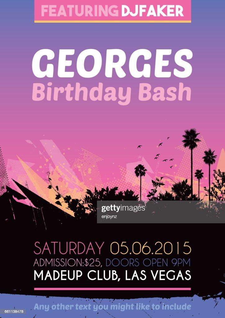 birthday party poster invitation