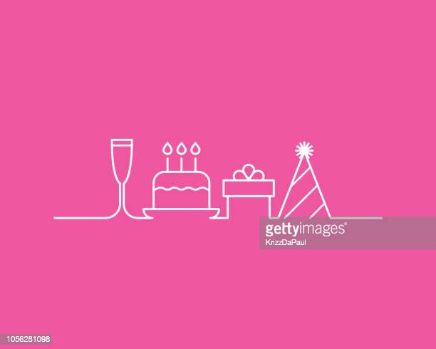 birthday party - anniversary stock illustrations