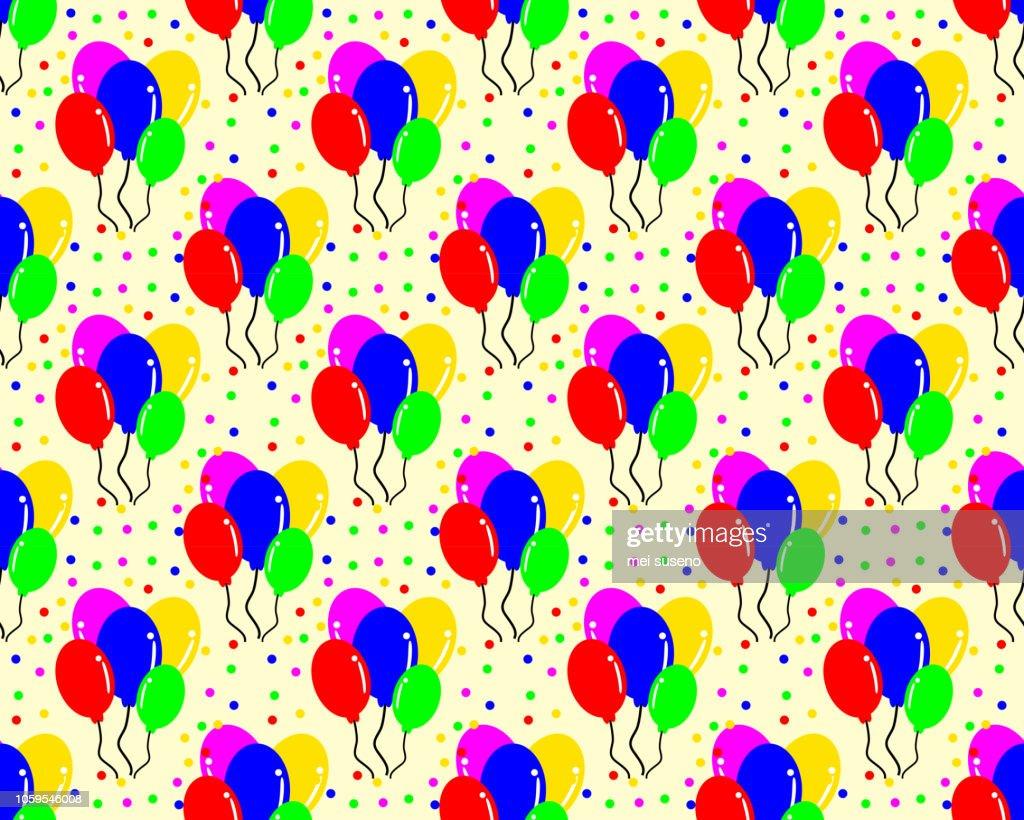 birthday pattern background shaped balloon