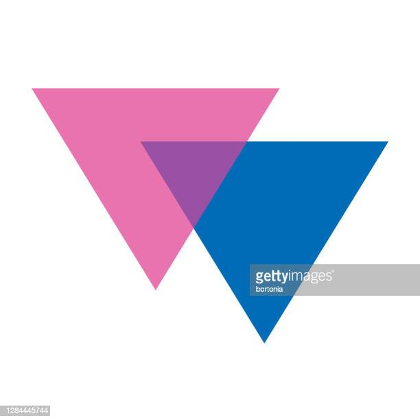 透明な背景にバイセクシュアリティビアングルシンボル - バイセクシャル点のイラスト素材/クリップアート素材/マンガ素材/アイコン素材