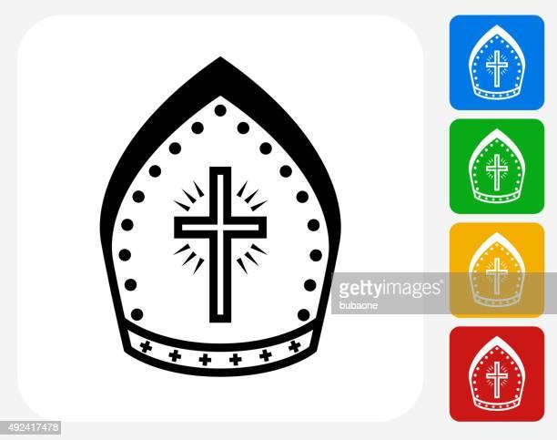 Bishop Hut-Symbol flache Grafik Design