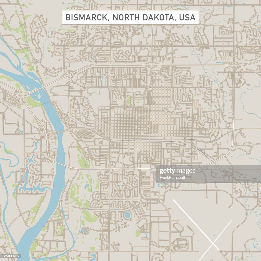 Karte der Bismarck North Dakota USA Stadtstraße : Vektorgrafik