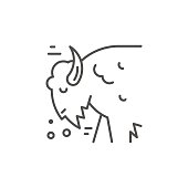Bison Line Icon