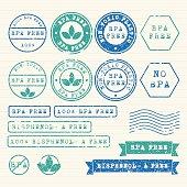 Bisphenol- A Free Stamps set