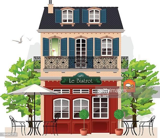 bistro - cafe stock illustrations