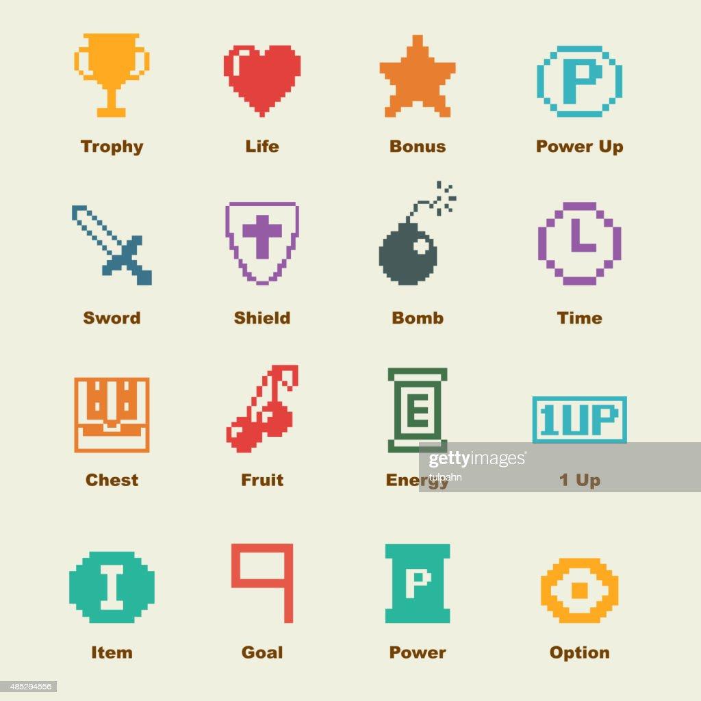 8 bit game elements