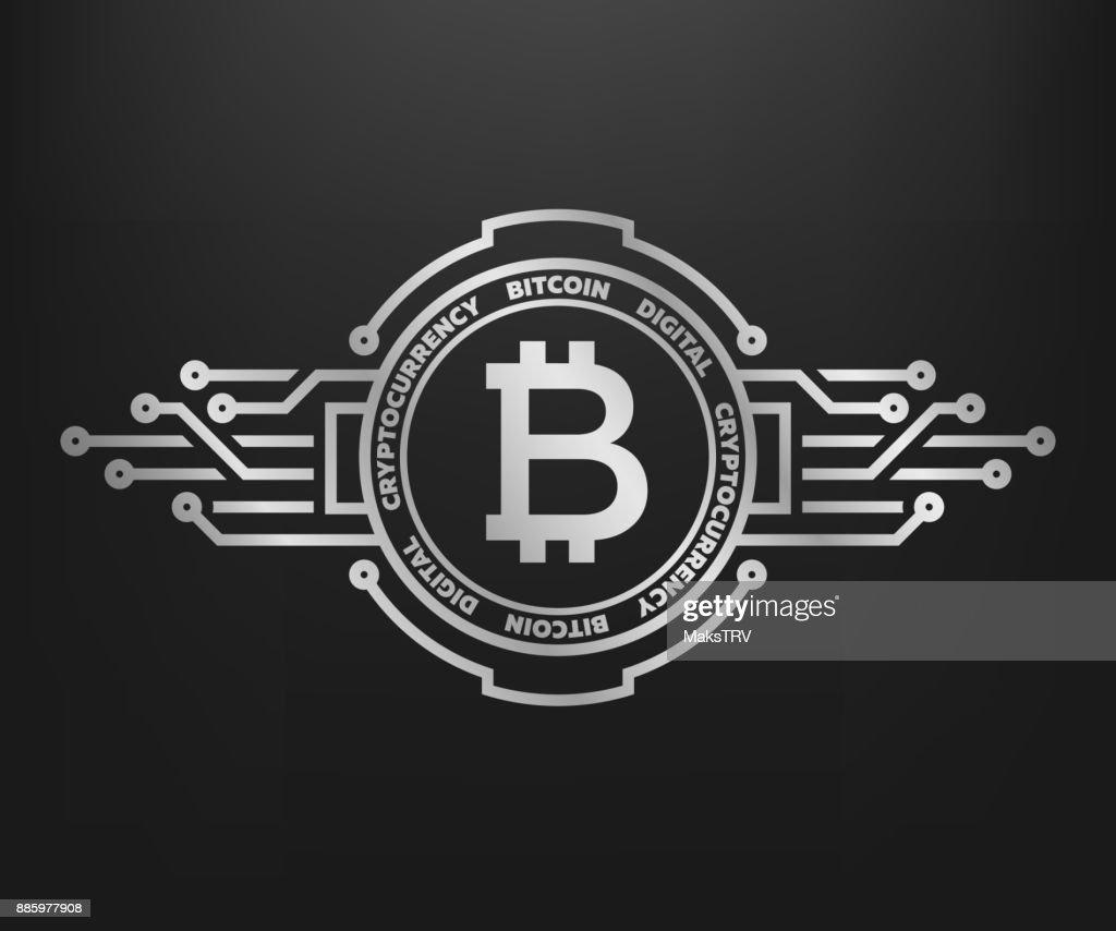 Bitcoin Abstract Silver Symbol Of Internet Money Vector Art Getty