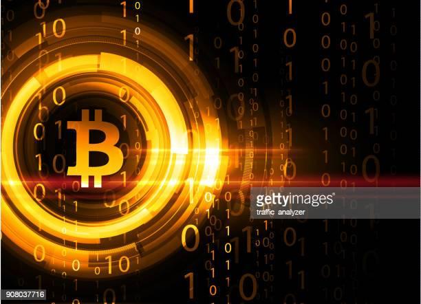 bitcoin 背景 - ビットコイン点のイラスト素材/クリップアート素材/マンガ素材/アイコン素材