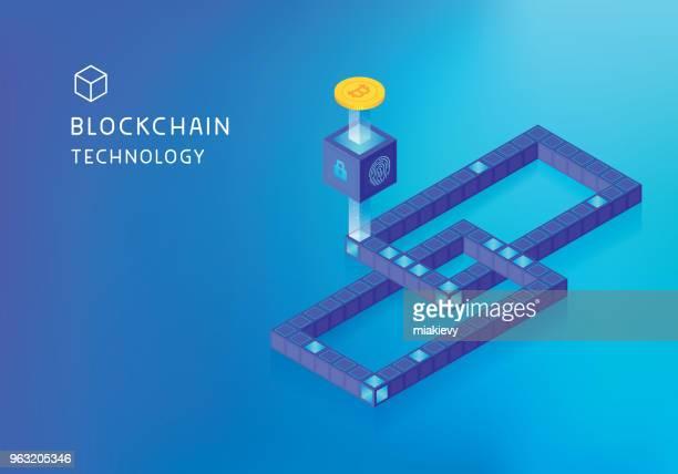bitcoin blockchain コンセプト - 仮想通貨マイニング点のイラスト素材/クリップアート素材/マンガ素材/アイコン素材