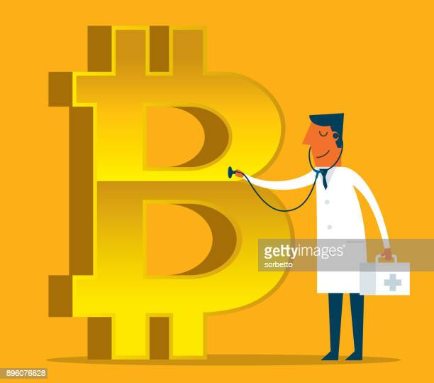 bitcoin concept - sick - finance and economy stock illustrations