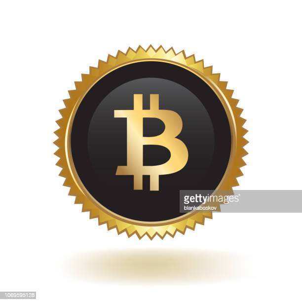 Bitcoin Cryptocurrency Gold Badge