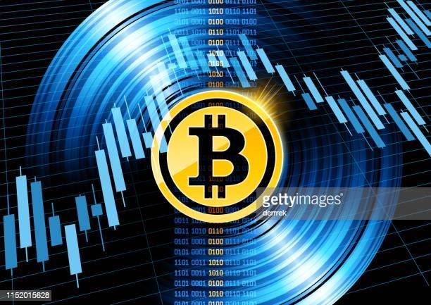ビットコイン暗号通貨 - 仮想通貨マイニング点のイラスト素材/クリップアート素材/マンガ素材/アイコン素材