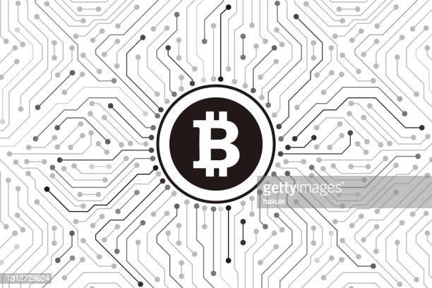 ビットコインデジタル通貨、未来的なデジタルマネー、ベクトルイラスト - ビットコイン点のイラスト素材/クリップアート素材/マンガ素材/アイコン素材