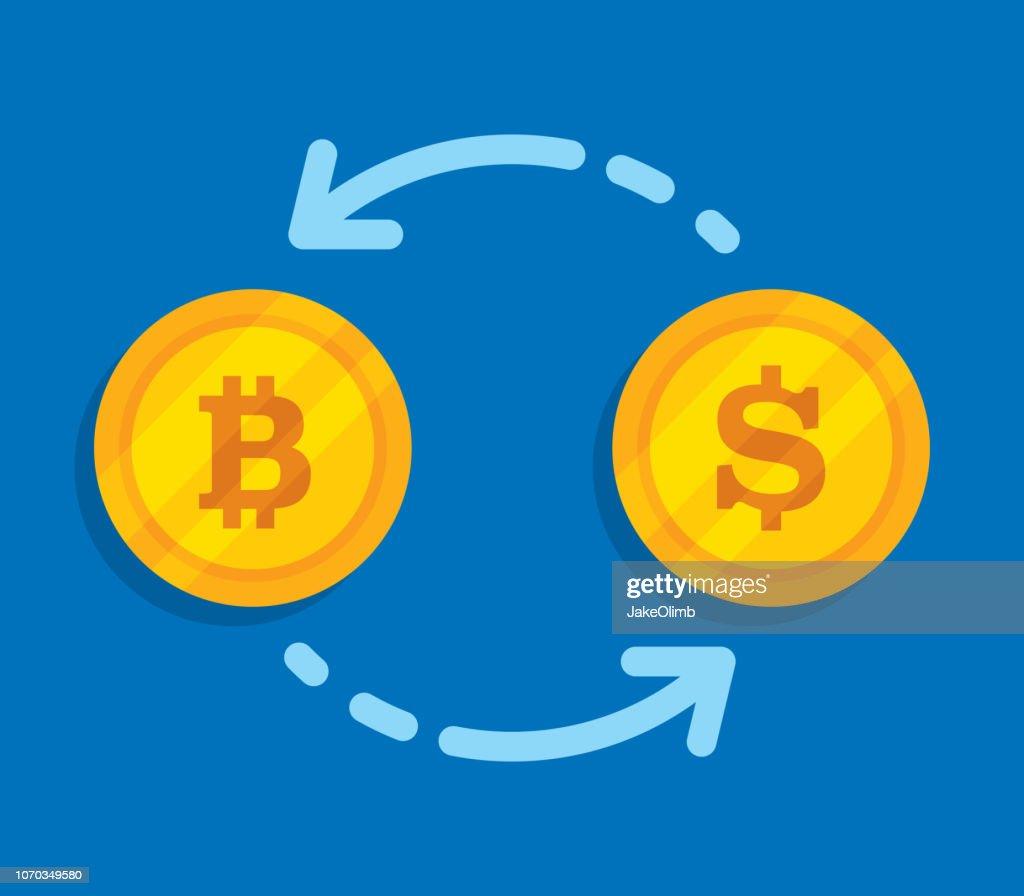ビットコイン ドル為替 : ストックイラストレーション
