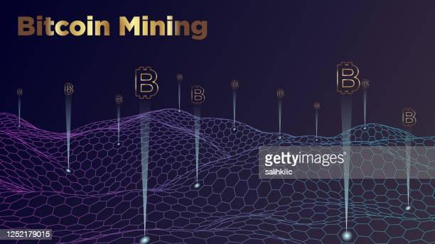 ビットコインマイニングの抽象的背景 - 仮想通貨マイニング点のイラスト素材/クリップアート素材/マンガ素材/アイコン素材