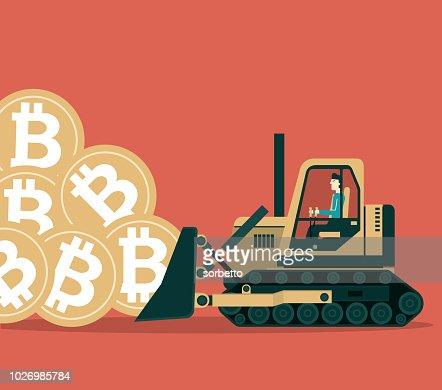bulldozer mining bitcoins