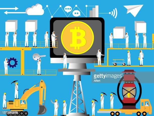ビットコインマイニング操作 - 仮想通貨マイニング点のイラスト素材/クリップアート素材/マンガ素材/アイコン素材