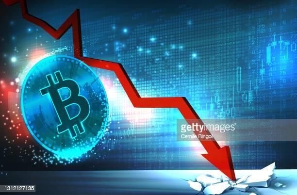 ビットコイン価格のフォールチャート - 仮想通貨点のイラスト素材/クリップアート素材/マンガ素材/アイコン素材