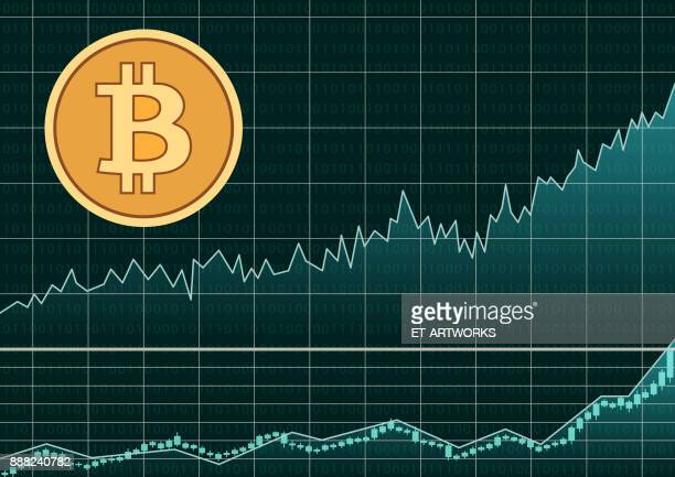 Bitcoin symbol and graph