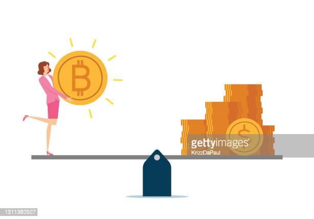 bitcoin - libra stock illustrations