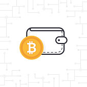 Bitcoin wallet on white background