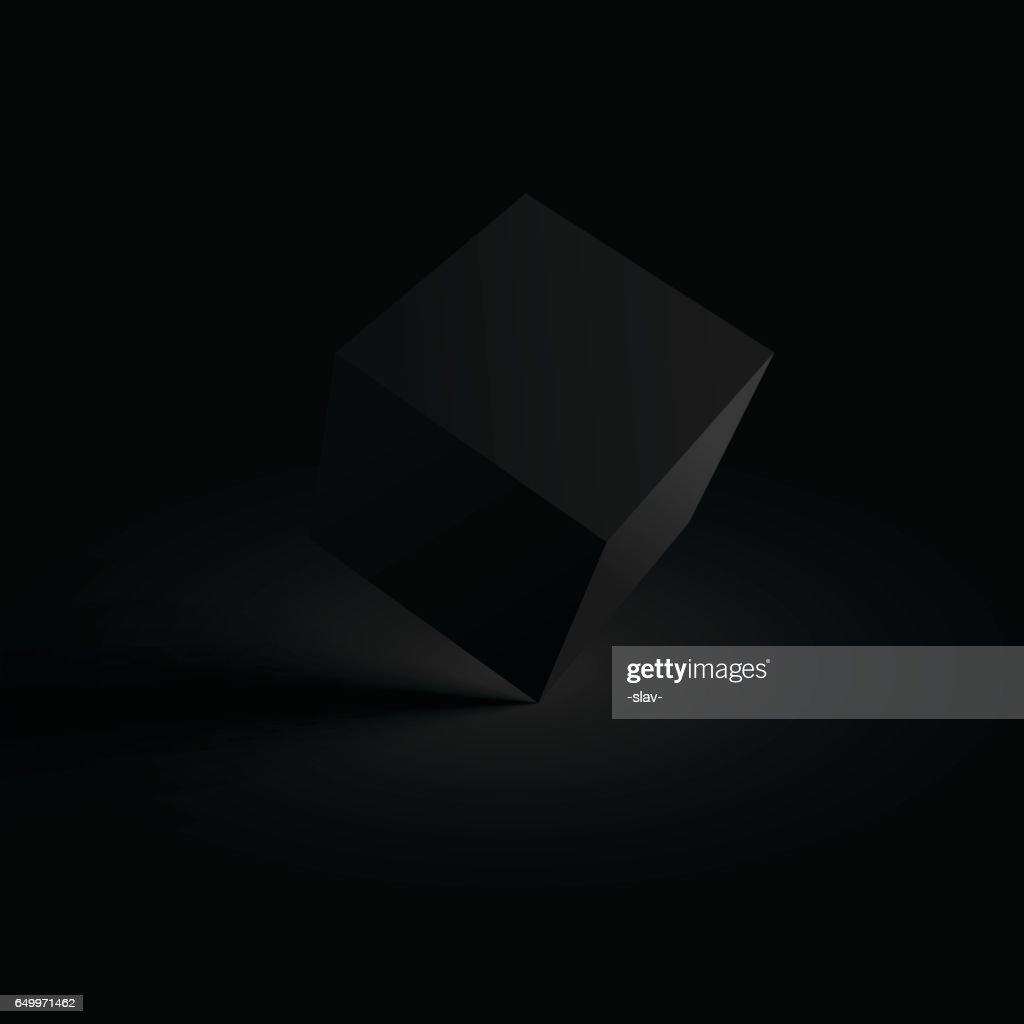 black 3D cube