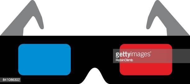 Black 3D Glasses Icon
