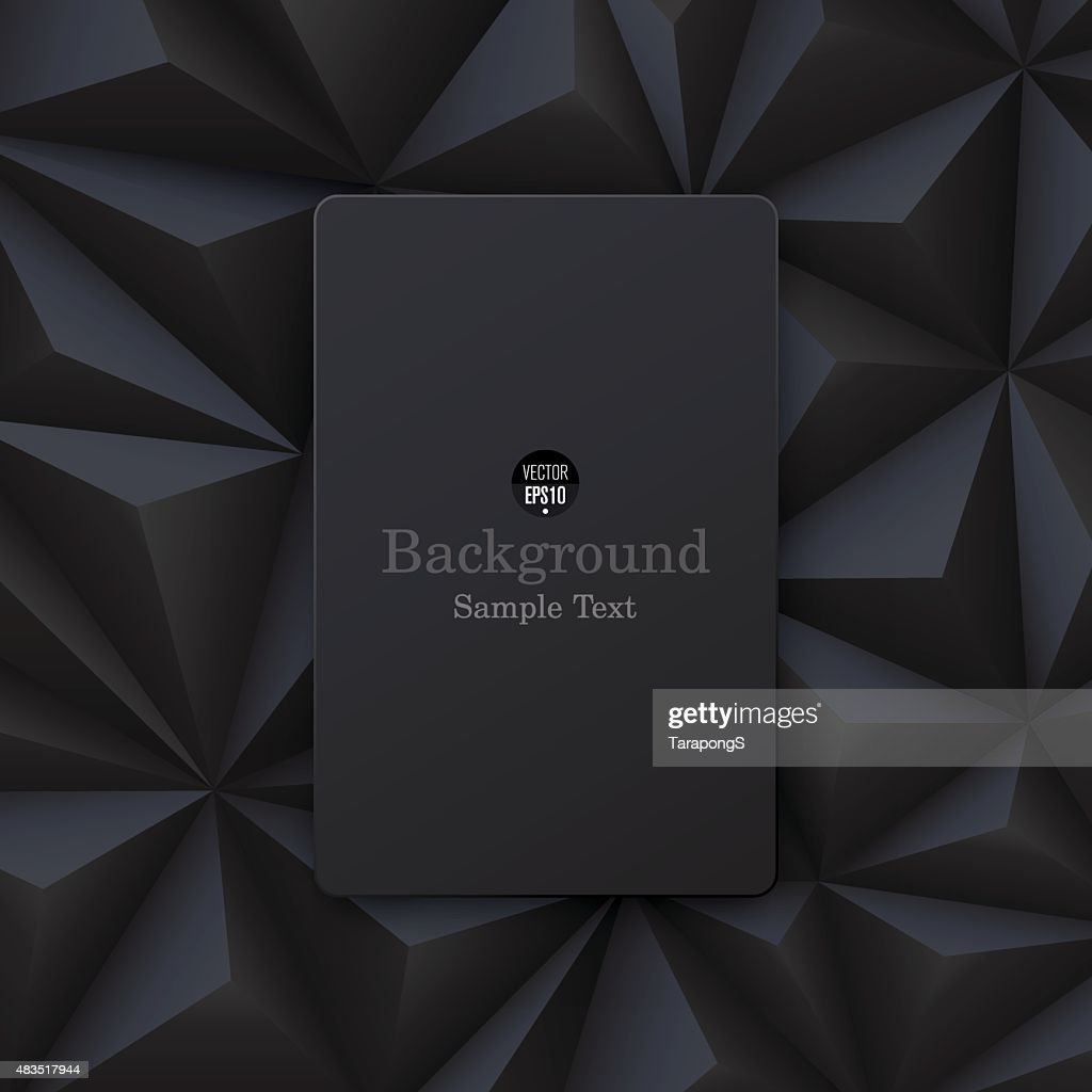 Black abstract background vector.