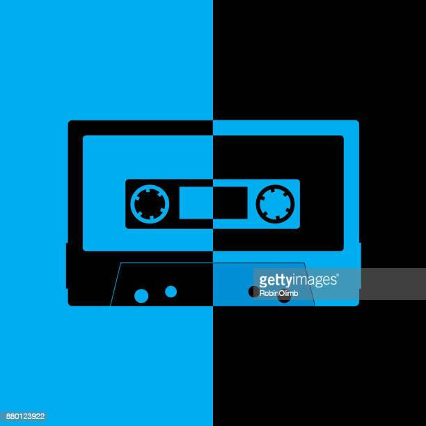 Black And Blue Cassette Icon