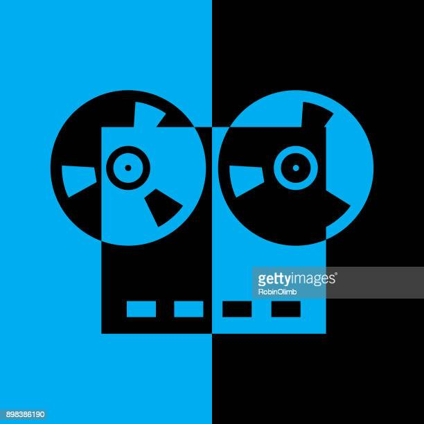 Black And Blue reel To reel Tape Recorder