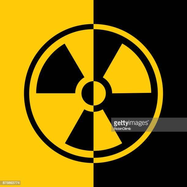 Black And Gold Radiation Symbol Icon