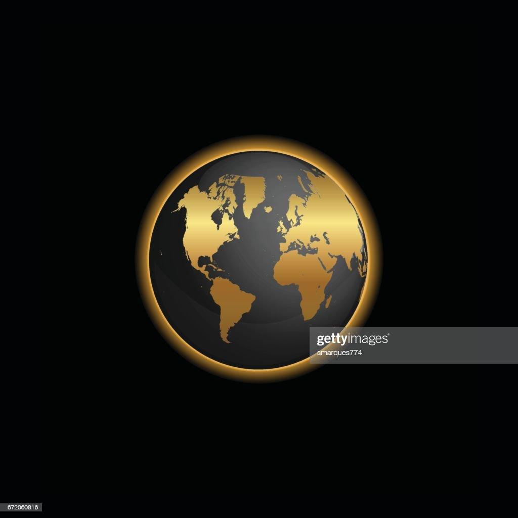 Black and gold world map globe illustration vector art getty images black and gold world map globe illustration vector art gumiabroncs Image collections
