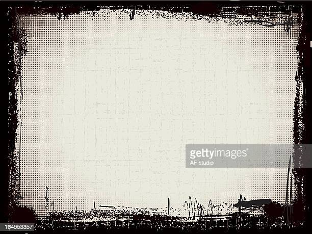 black and gray grunge pattern frame - sepia toned stock illustrations